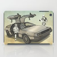 Lost, searching for the DeathStarr _ 2 Stormtrooopers in a DeLorean  iPad Case