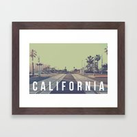 California On the Tracks Framed Art Print