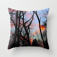 Sunset Through The Tangl… Throw Pillow