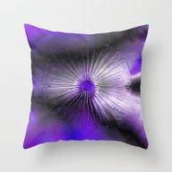 Eye Purple Throw Pillow