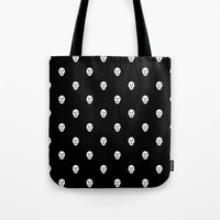 Tote Bag featuring !!! by Panic Junkie