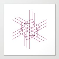 #460 Origami space – Geometry Daily Canvas Print