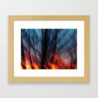 Out Of The Blue Into The… Framed Art Print
