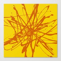 Bloom Yellow Canvas Print