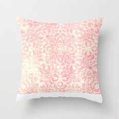 Shabby Arabesque Pattern Throw Pillow