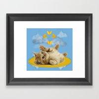 Kitty Wonder Framed Art Print