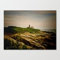 Beavertail Lighthouse On… Canvas Print