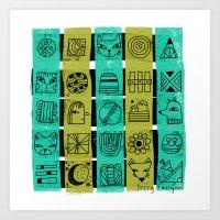 PATTERN QUILT Art Print