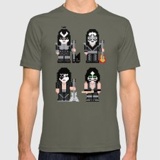 Pixel Kiss Mens Fitted Tee Lieutenant SMALL