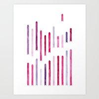 Cotton Candy Arrows Art Print