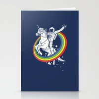 unicorn Stationery Cards featuring Epic Combo #23 by Jonah Makes Artstuff