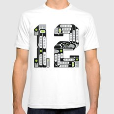 Seattle 12th Man - Black SMALL Mens Fitted Tee White