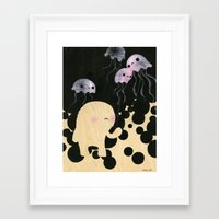 Jellyfish Wrangler Framed Art Print