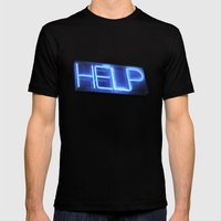 HELP Mens Fitted Tee Black SMALL