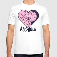 Asshole (Part I) Mens Fitted Tee White SMALL