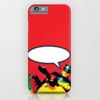 Robin and Bat Man in Action iPhone 6 Slim Case