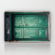 Green old door Laptop & iPad Skin