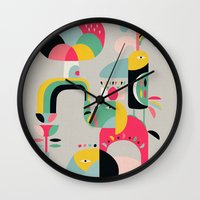 Jungle of elephants Wall Clock