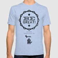 Be Great. Mens Fitted Tee Athletic Blue SMALL