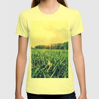 In the Grass Womens Fitted Tee Lemon SMALL