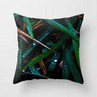 Dark Leaves Throw Pillow