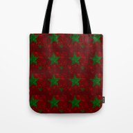 Christmas Red And Green … Tote Bag