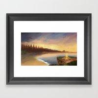 Burning Horizon  Framed Art Print