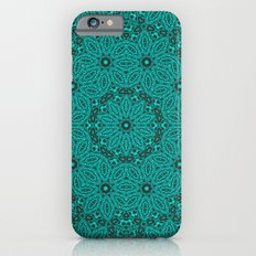 Beautiful mandala in teal and green Slim Case iPhone 6s