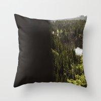 Yellowstone Falls . Ii Throw Pillow