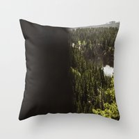 Yellowstone Falls . Ii Throw Pillow