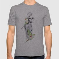 Paradise no.1 Mens Fitted Tee Athletic Grey SMALL
