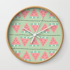 watermelon repeat Wall Clock