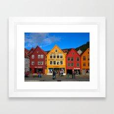 Bergen, Norway Old Town  Framed Art Print