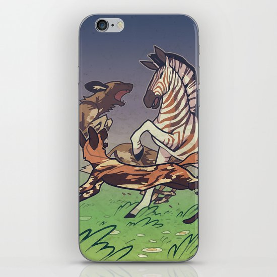 African Wild Dog iPhone & iPod Skin