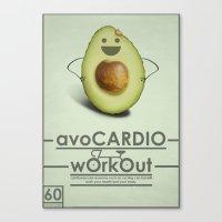avoCARDIO workout Canvas Print