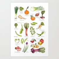 Calendar-January Thru Ju… Art Print
