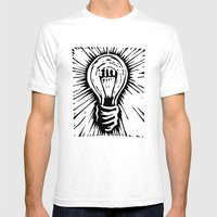 The Light Mens Fitted Tee White SMALL