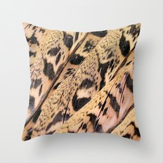 Pheasant Feathers Abstract Throw Pillow