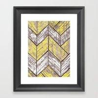 SHORELINE CHEVRONS (2 of 3) Framed Art Print