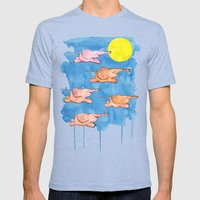 Flying Elephants Mens Fitted Tee Tri-Blue SMALL