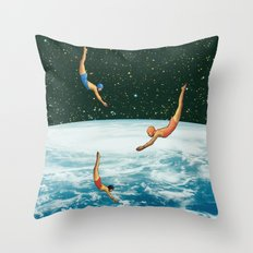 Space jumps Throw Pillow