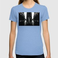 city Womens Fitted Tee Tri-Blue SMALL