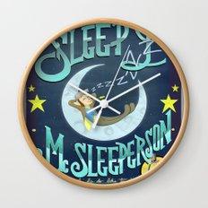 Sleepy McSleeperson Wall Clock