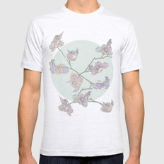 BIRDIE BIRD // Green Mens Fitted Tee Ash Grey SMALL