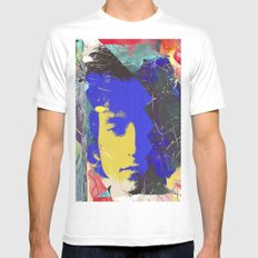bob dylan SMALL White Mens Fitted Tee