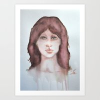 Watercolor smile Art Print