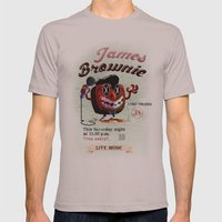 James BROWNIE! Mens Fitted Tee Cinder SMALL