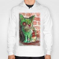 Mean Green Cute Zombie Cat Hoody