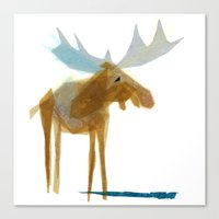 Canvas Print featuring Heathcliff Moose by Darrah Gooden