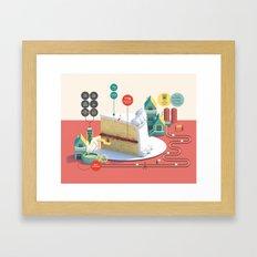 Imaginary Factory - Cake  Framed Art Print